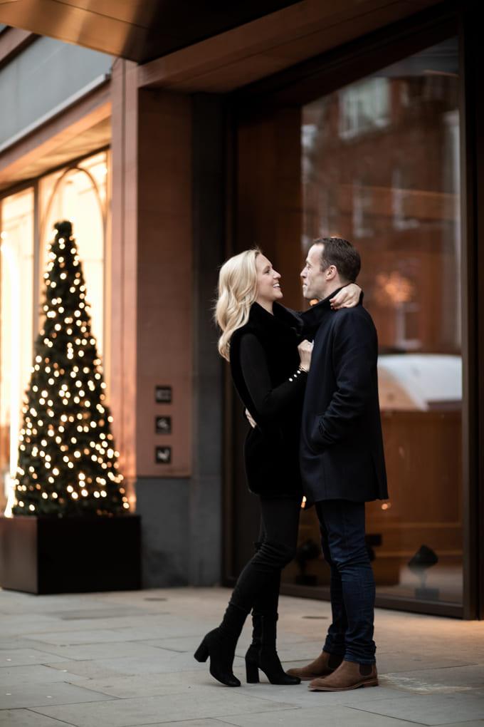 christmas couple photoshoot
