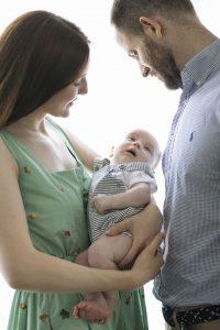 family photography newborn mum dad baby