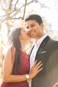 indian couple anniversary photoshoot park