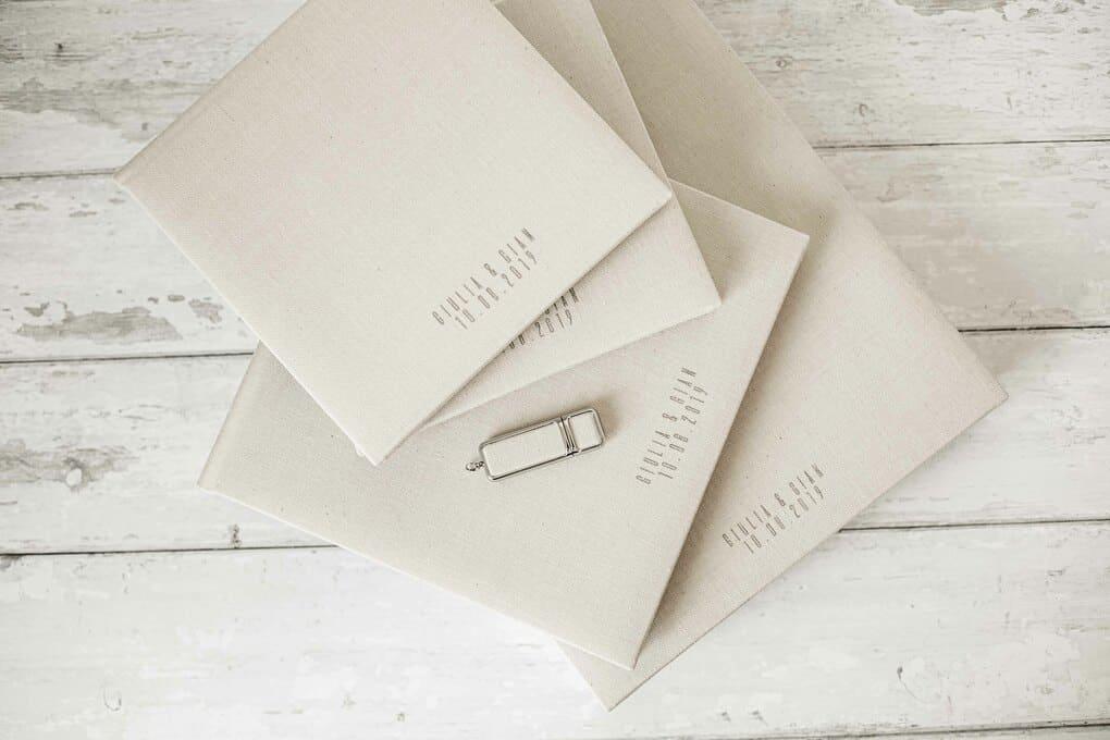 wedding album box and usb